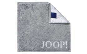 Seifenlappen Classic Doubleface in silber, 30 x 30 cm