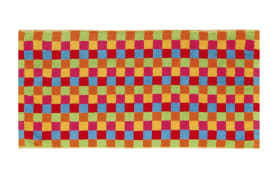 Saunatuch Lifestyle Karo in multicolor hell, 70 x 180 cm