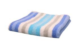 Duschtuch Streifen in blau, 70 x 140 cm