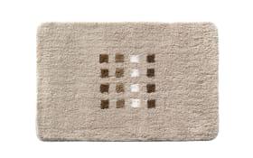 Badteppich Quadri in beige, 50 x 60 cm