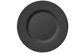 Speiseteller Manufakture Rock in schwarz, 27 cm