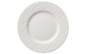 Frühstücksteller Manufacture Rock Blanc in weiß, 22 cm