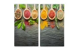 Herdabdeck-/Schneideplatten Spices 2er-Set, 30 x 52 cm