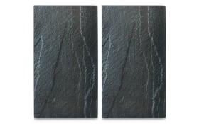 Herdabdeck-/Schneideplatten in Schiefer-Nachbildung 2er-Set, 30 x 52 cm