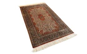 Teppich aus Kashmir Seide Exklusiv in braun