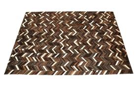 Teppich Patchwork in braun, 140 x 200 cm