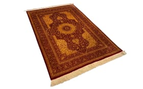 Teppich Ghom Silk in rot