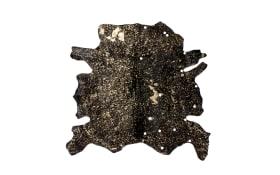 Kuhfellteppich Glam 110 in braun-gold, ca. 1,35 qm