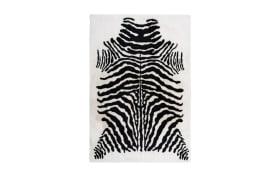 Hochflorteppich Rabbit Animal 400 in schwarz-weiß, 120 x 160 cm