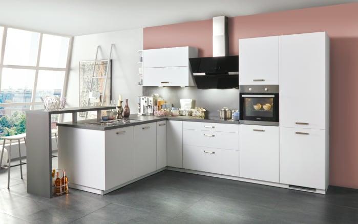 Einbauküche Loft in weiß, Siemens Geschirrspüler