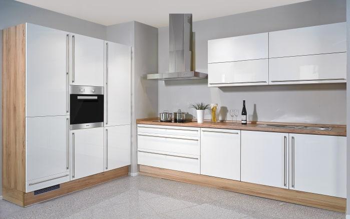 Einbauküche Fresh in weiß, Siemens-Geschirrspüler und Zanker-Backofen