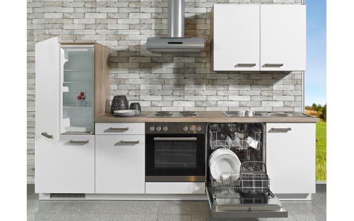 Einbauküche Delta in schneeweiß, Siemens-Geschirrspüler