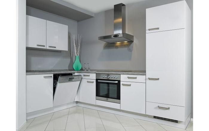 Einbauküche Flash in Lacklaminat seidengrau, Neff-Geschirrspüler