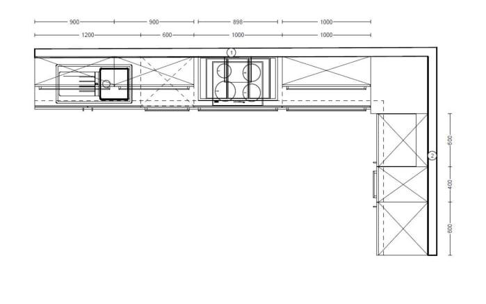 Einbauküche Lux in weiß Lack Hochglanz, Junker Geschirrspüler JS03VN90