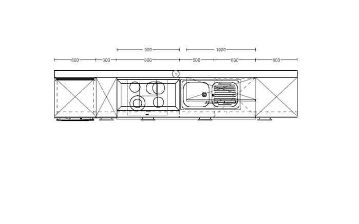 Einbauküche Focus, Lack magnolia Hochglanz, inklusive AEG Elektrogeräte-05