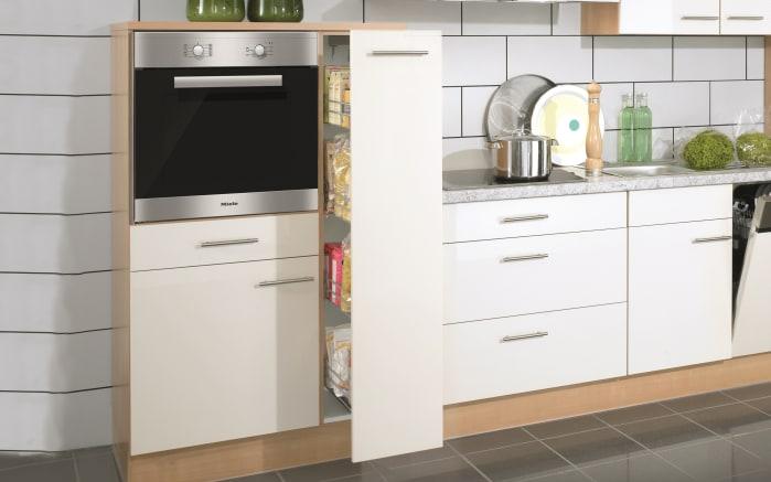 Einbauküche Focus, Lack magnolia Hochglanz, inklusive AEG Elektrogeräte-02