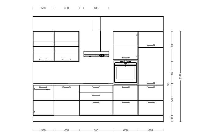 Einbauküche Riva in grau, Altus Geschirrspüler SNV1401