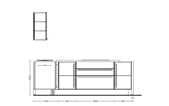 Einbauküche Flash in seidengrau Hochglanz, Siemens-Geschirrspüler SN614X00AE