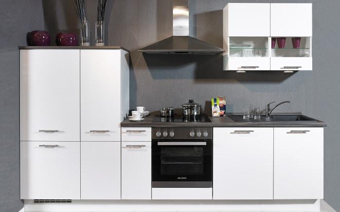 Einbauküche Focus in Lack weiß, AEG-Geschirrspüler