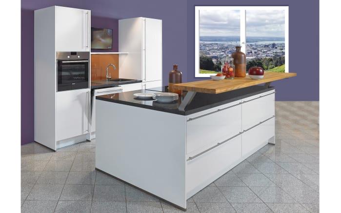 Einbauküche Lux in Hochglanz alpinweiß, Siemens-Geschirrspüler