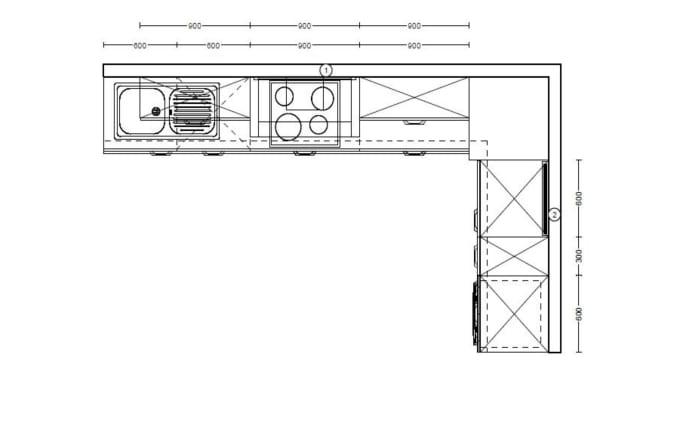 Einbauküche Flash in seidengrau Hochglanz, Siemens Geschirrspüler und Steinspüle