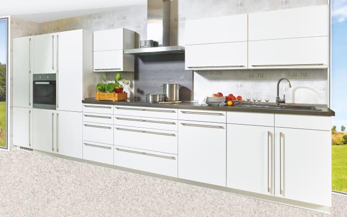 Einbauküche Lux in alpinweiß Lack Hochglanz, Neff-Geschirrspüler