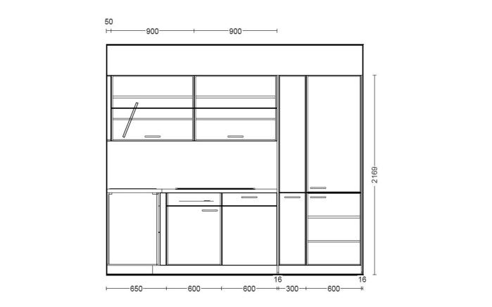 Einbauküche Fashion 165 in Lack steingrau, Privileg Geschirrspüler