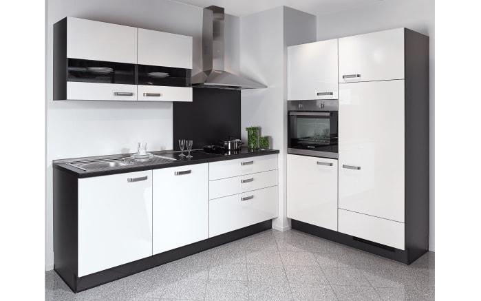 Einbauküche Focus, Lack Ultra-Hochglanz weiß, inklusive Elektrogeräte-01