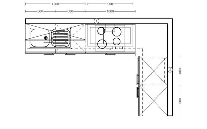 Einbauküche Focus, Lack Ultra-Hochglanz weiß, inklusive Elektrogeräte-04