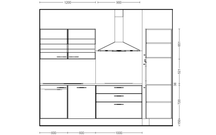 Einbauküche Focus in Lack Hochglanz weiß, Leonard-Geschirrspüler LV1525