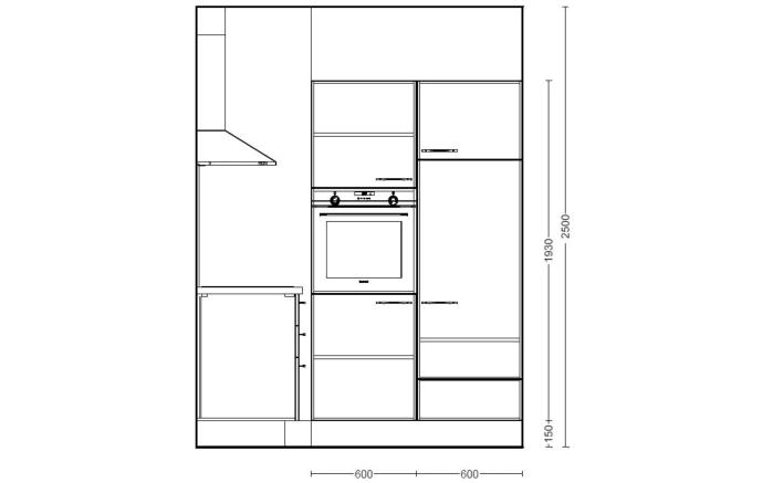 Einbauküche Focus, Lack Ultra-Hochglanz weiß, inklusive Elektrogeräte-03