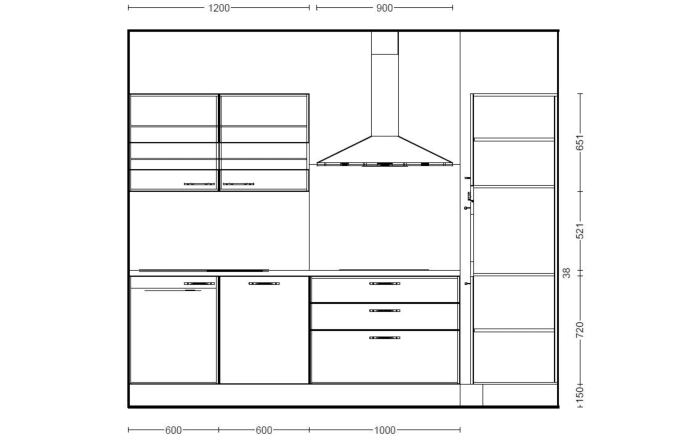 Einbauküche Focus in Lack Hochglanz weiß, Leonard-Geschirrspüler LV1526