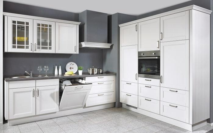 Einbauküche York in Echtholz Lack seidengrau, Siemens-Geschirrspüler
