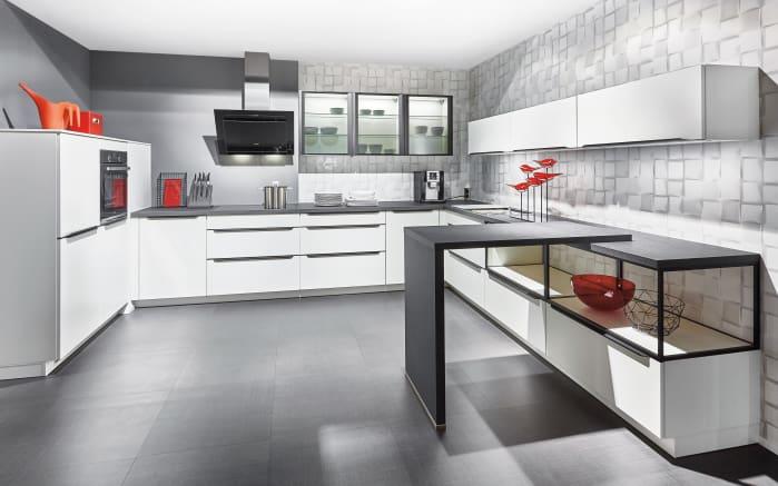 Einbauküche Fashion in weiß matt, Neff-Geschirrspüler