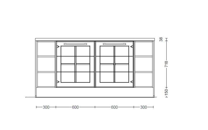 Marken-Einbauküche Sylt in weiß, Leonard-Geräte