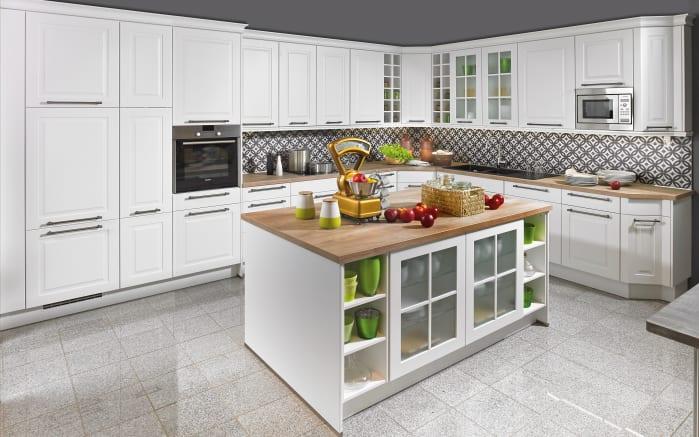 Marken-Einbauküche Sylt in weiß, Miele Geschirrspüler G4680SCVi