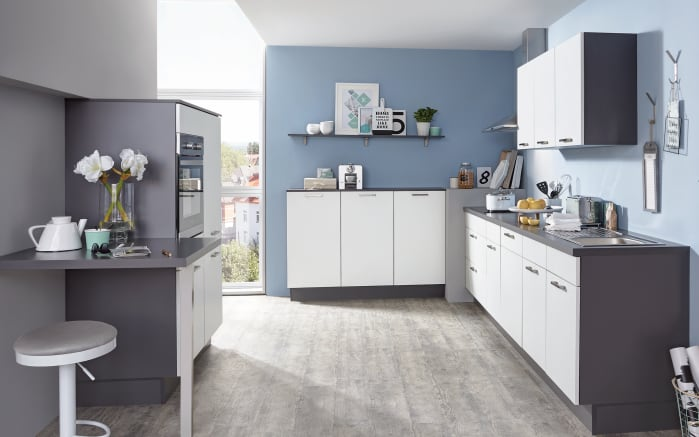 Einbauküche Speed weiß softmatt, Neff-Geschirrspüler