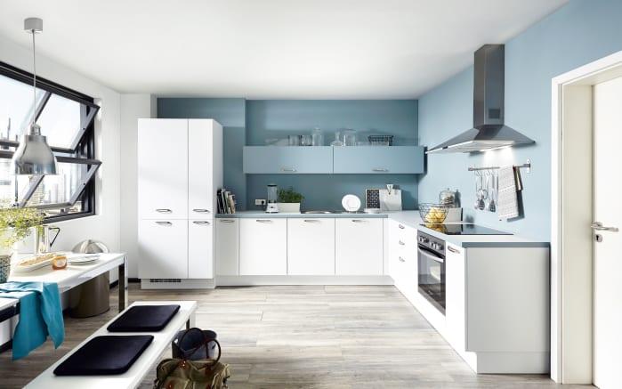 Einbauküche Touch, Lacklaminat weiß supermatt, inklusive Elektrogeräte-01