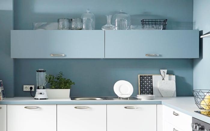 Einbauküche Touch, Lacklaminat weiß supermatt, inklusive Elektrogeräte-02