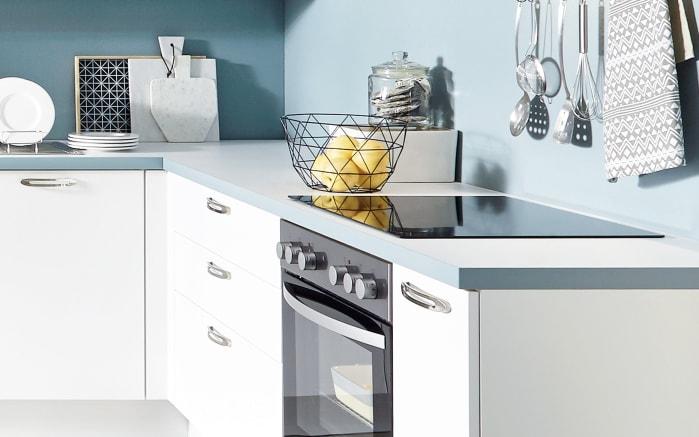 Einbauküche Touch, Lacklaminat weiß supermatt, inklusive Elektrogeräte-03