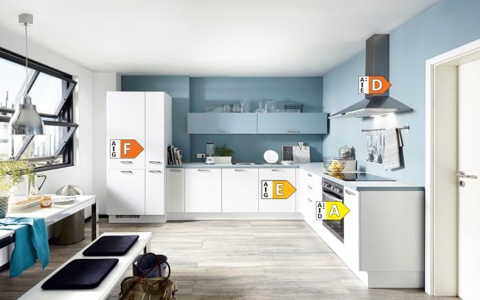 Einbauküche Touch, Lacklaminat weiß supermatt, inklusive Elektrogeräte-05
