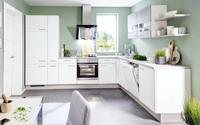 Einbauküche Speed in weiß, AEG-Geschirrspüler