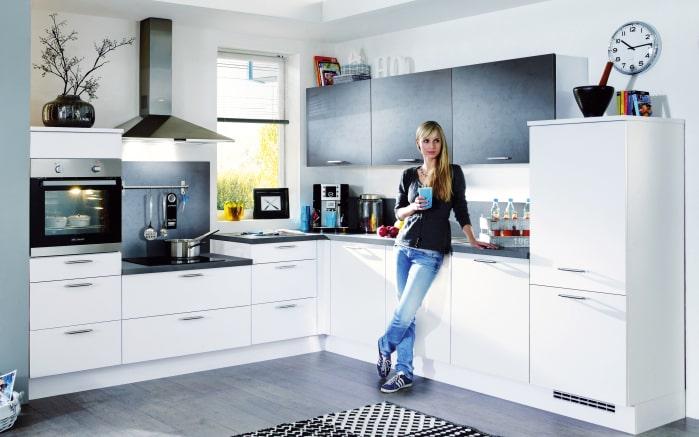 Einbauküche Fashion in Lack weiss, Neff-Geschirrspüler