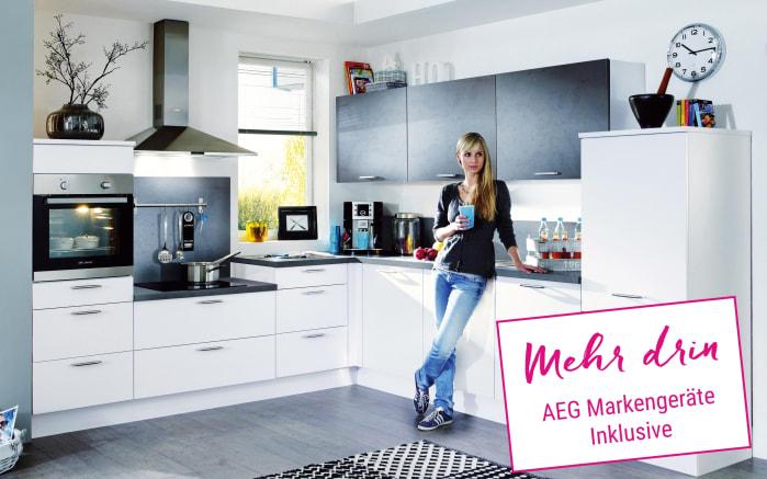 Einbauküche Fashion in Lack weiß
