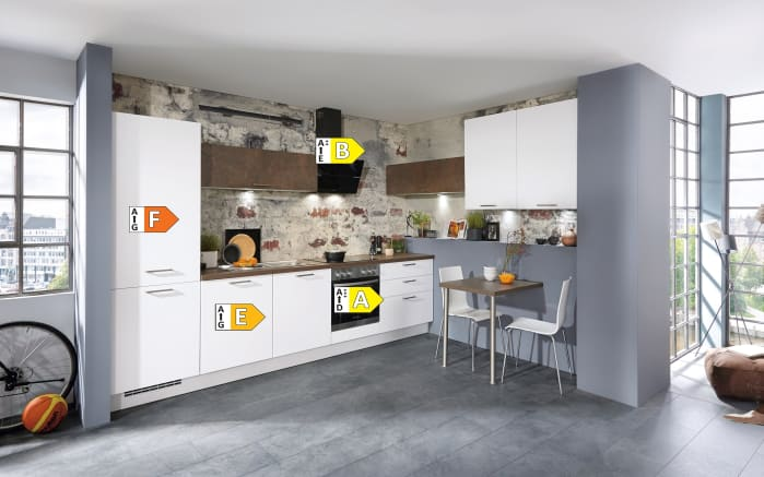 Einbauküche Touch, alpinweiß Lacklaminat supermatt, inklusive Elektrogeräte-05