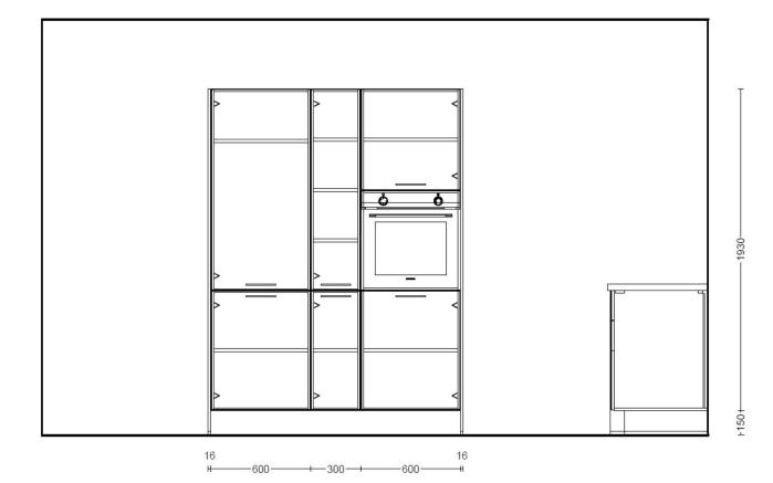Einbauküche Structura in Halifax Eiche, Siemens-Geschirrspüler