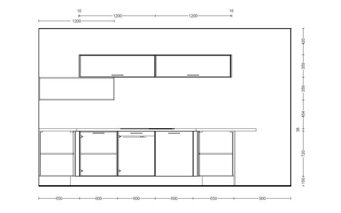 Einbauküche Structura in Halifax Eiche, Miele-Geschirrspüler