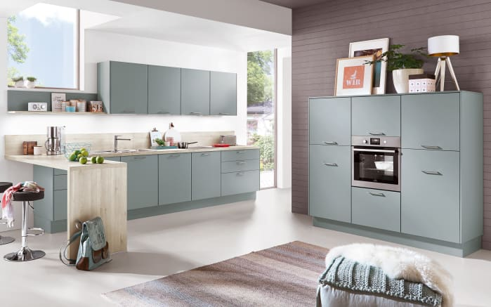 Einbauküche Touch in aqua, AEG-Geschirrspüler