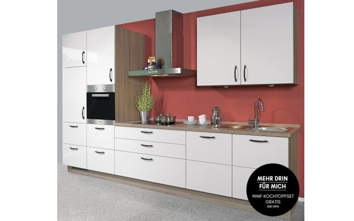 Einbauküche Flash in seidengrau Hochglanz, Leonard-Geschirrspüler LV1525