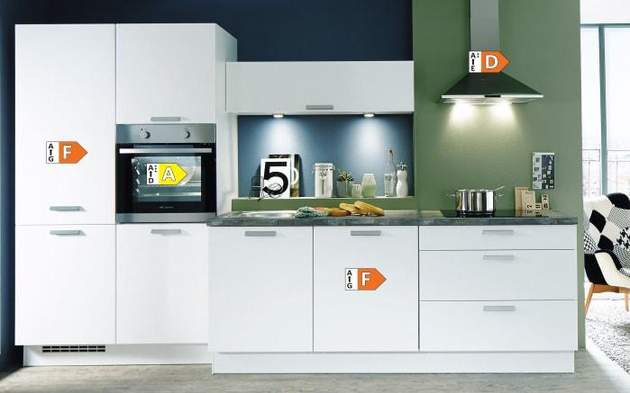 Einbauküche Fashion, Lack alpinweiß matt, inklusive Elektrogeräte, inklusive Siemens Geschirrspüler-05